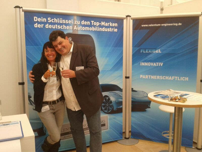 Messestand der Valentum Engineering